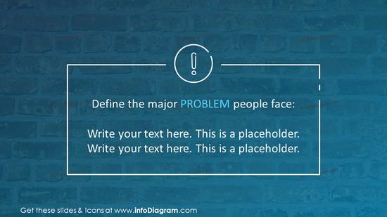 Problem description slide with placeholders