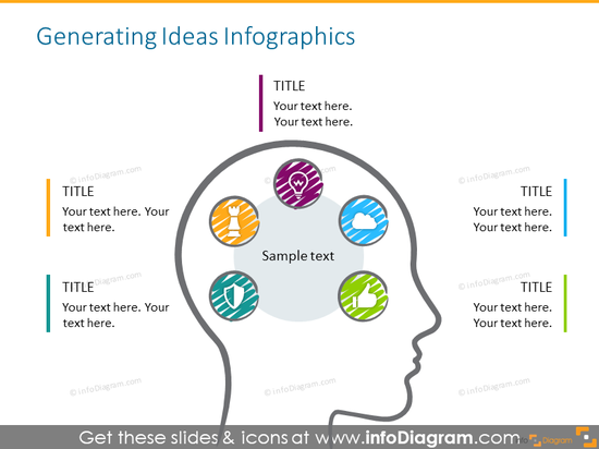 Slide template fo brainstorming activities
