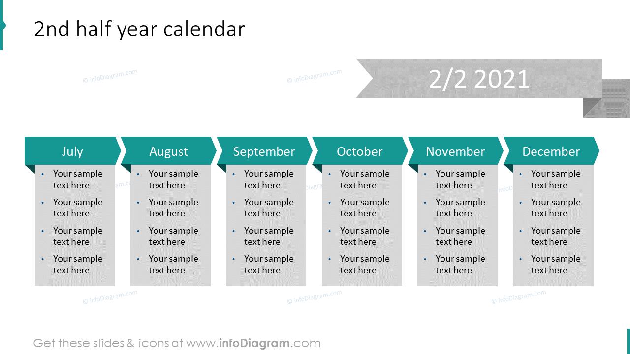 2nd Half Year Calendar 2020 EU