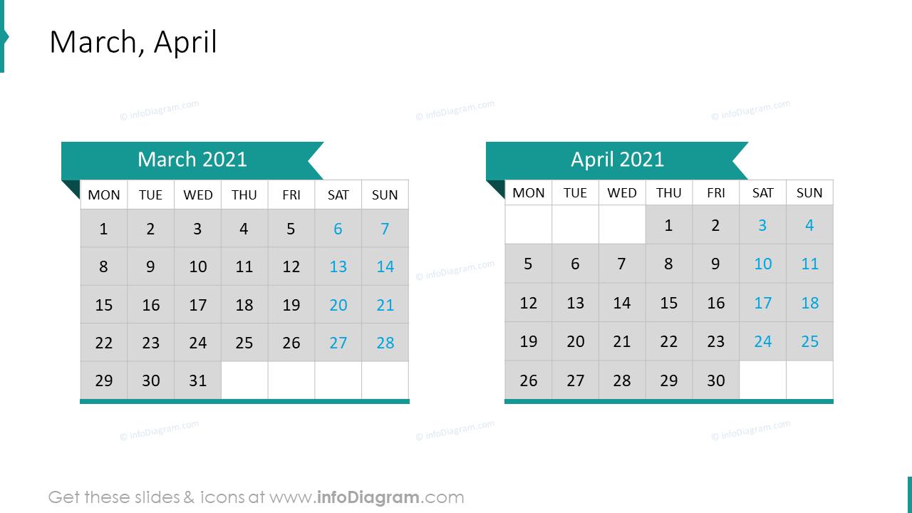 March April 2020 EU Calendar