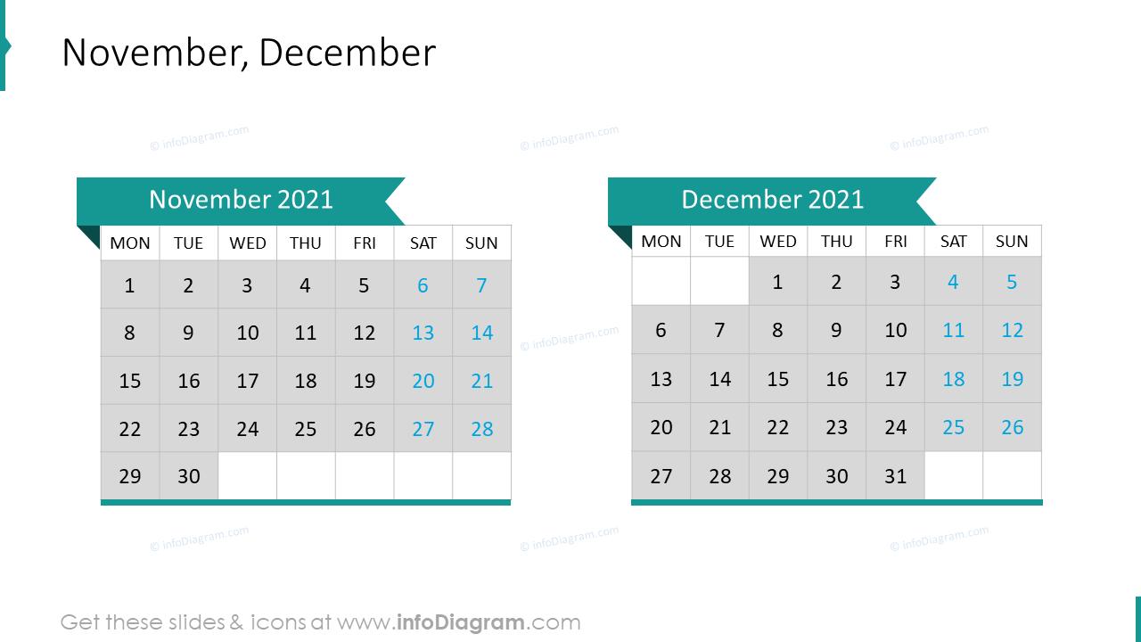 November December 2020 EU Calendar