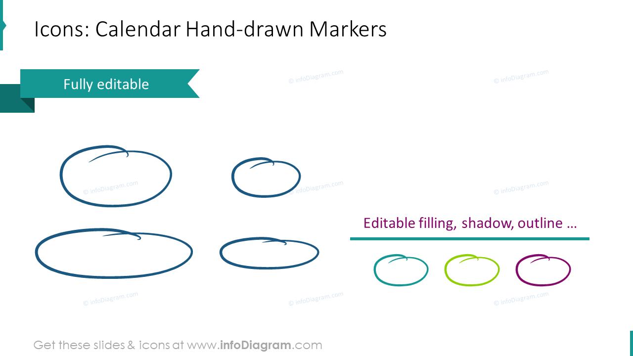 Calendar EU Handdrawn Markers
