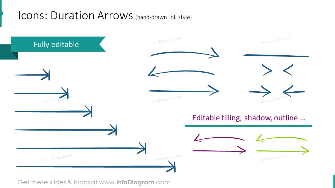 Calendars Duration Arrows