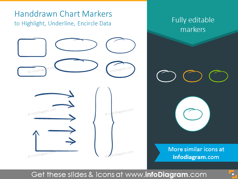 Handdrawn Chart Markers editable colors