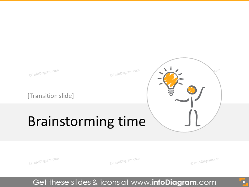 brainstorming transition slide section scribble icons powerpoint