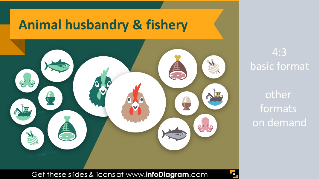 33 modern flat agriculture icons for animal husbandry ppt slides