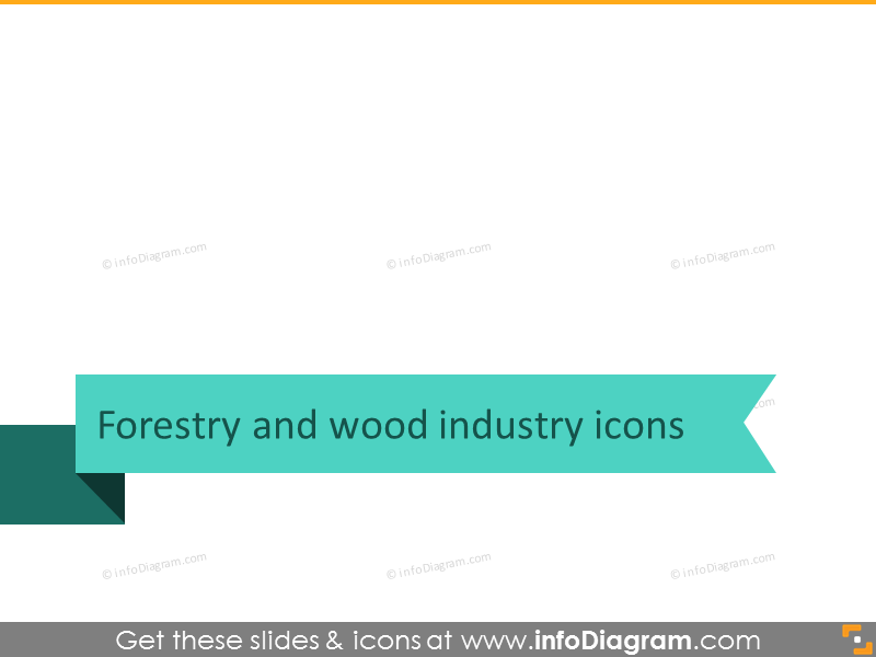Forestry and wood industry icons