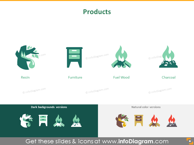 Forestry and wood industry: products