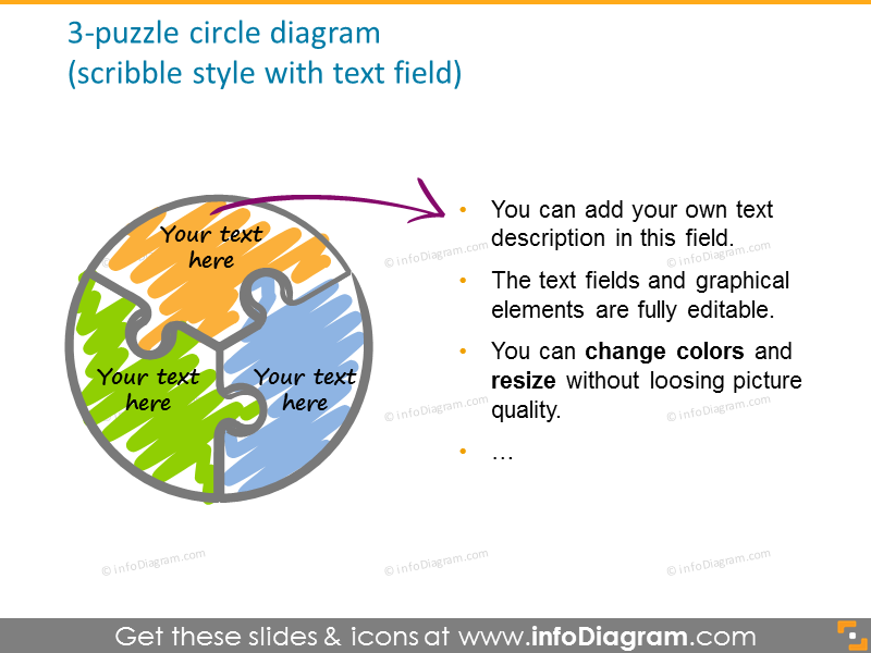3-puzzle circle scribble stylediagram