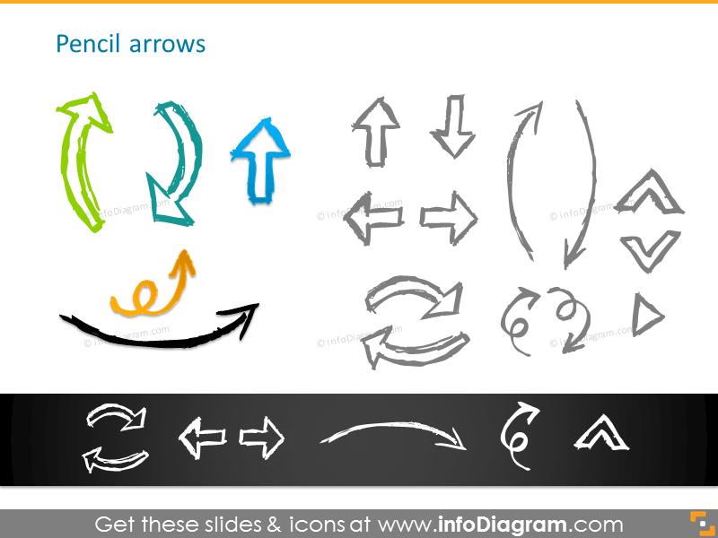 Pencil arrows