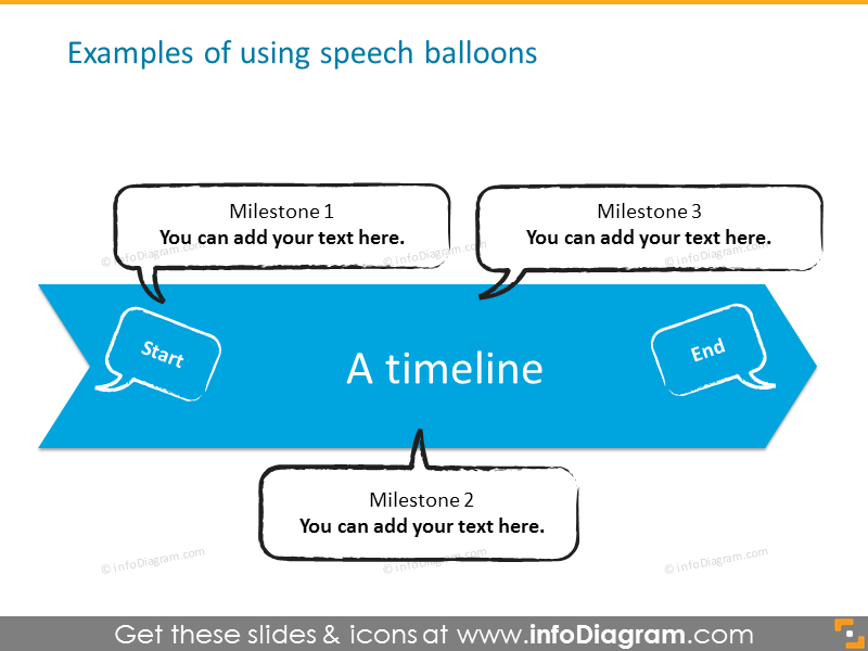 Examples of using speech balloons