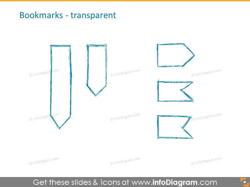 Bookmarks transparent icons