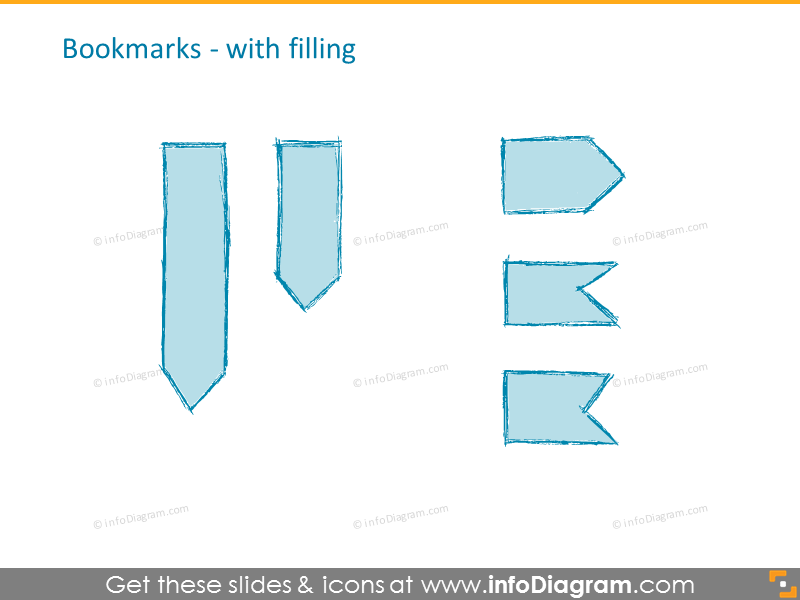 Bookmarks with filling