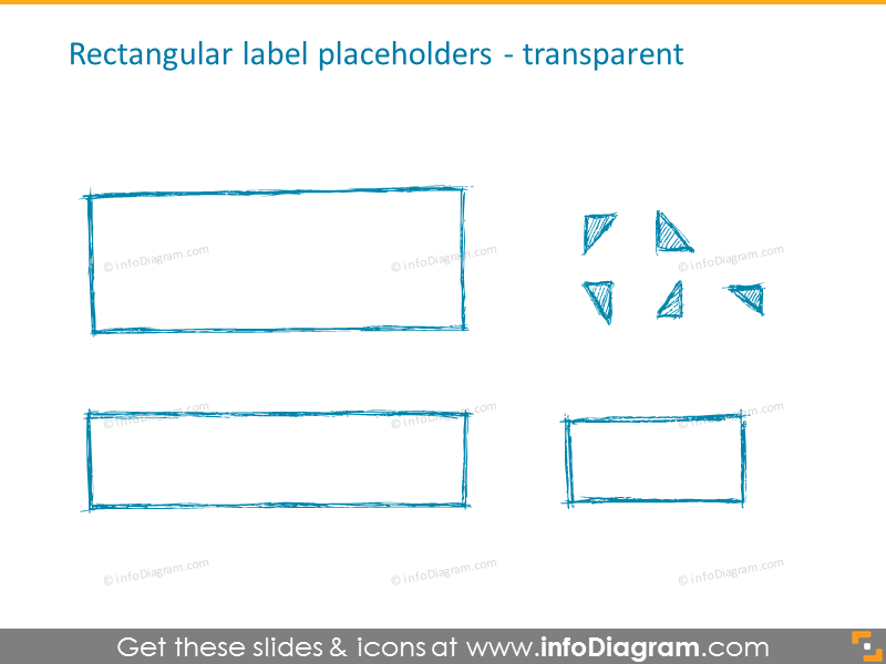 Rectangular label placeholders