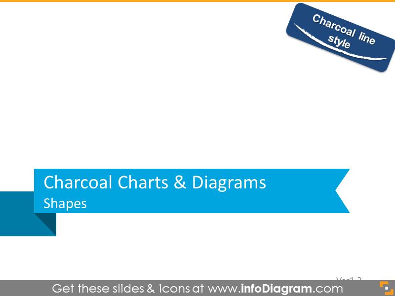 Charcoal charts and diagrams shapes