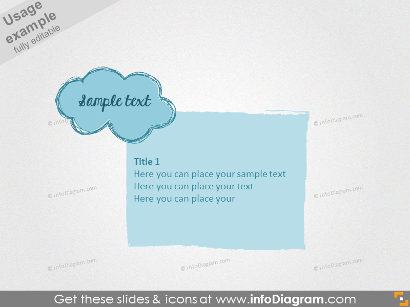 Text sample with filling