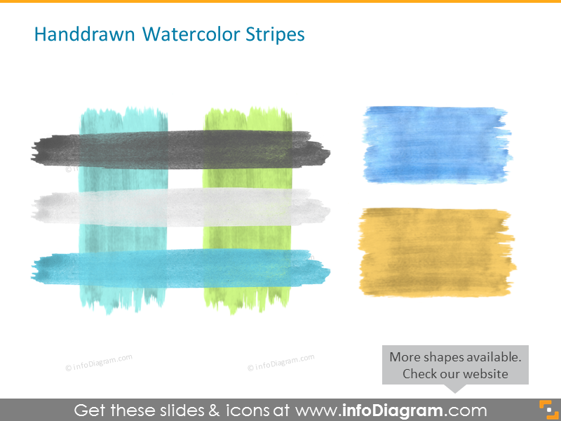 Handdrawn Watercolor Stripes