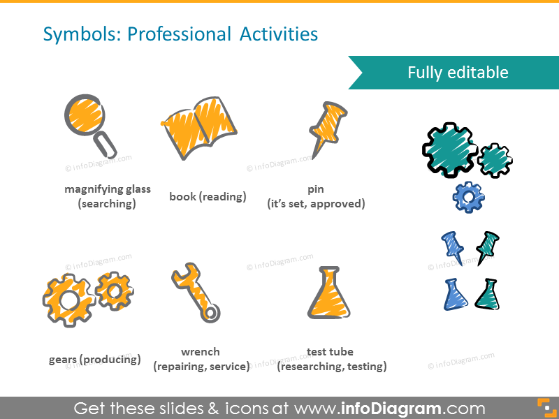 Professional activities icons
