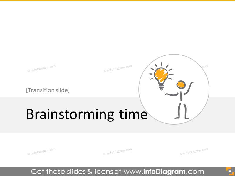 Brainstorming time slide