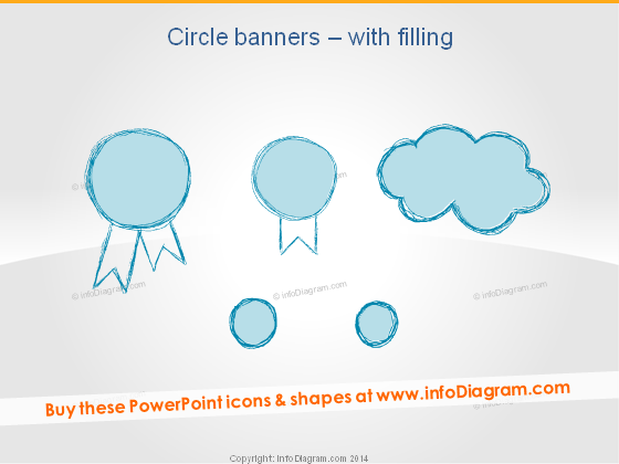 Retro Badge Circle Banner Pencil Cloud powerpoint icon
