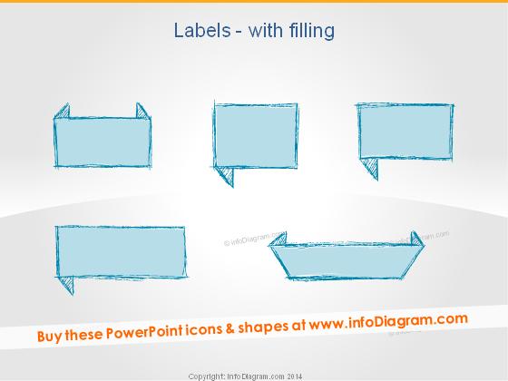Retro Labels Pencil Comment handwritten ppt clipart