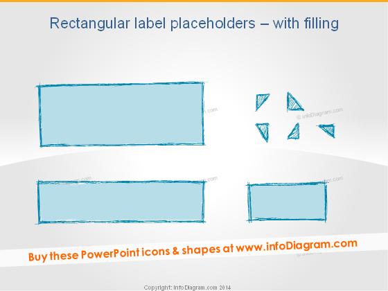 Handdrawn Rectangle Label Banner Placeholder Pencil PPT