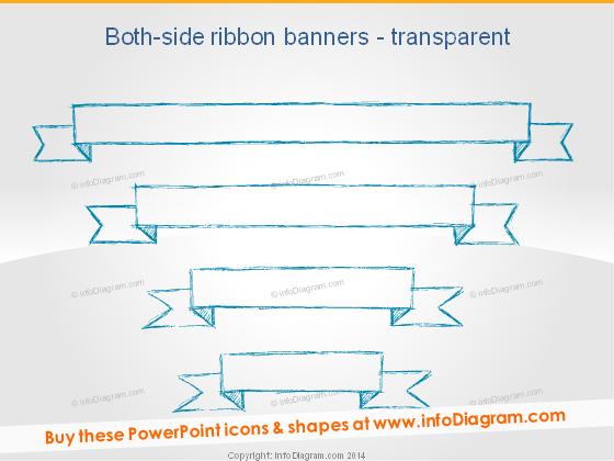 Handdrawn Ribbon Transparent Doodle PPT shape