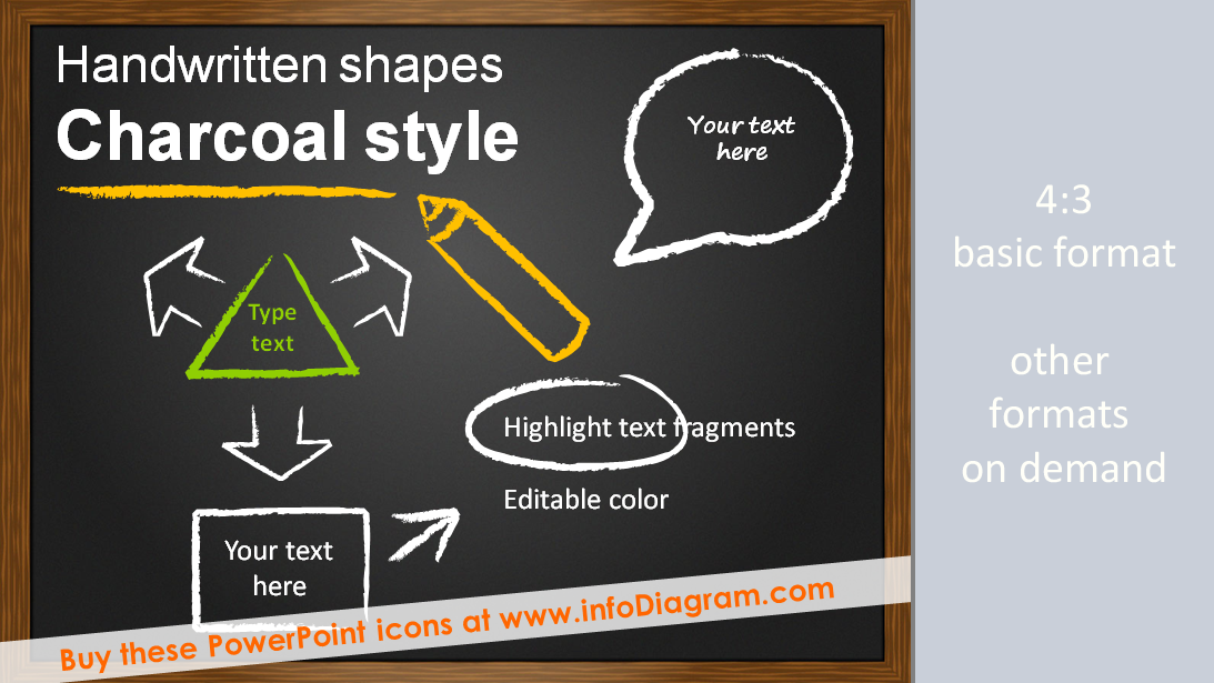 holographic will template - handwritten charcoal icons powerpoint schema diagram shapes