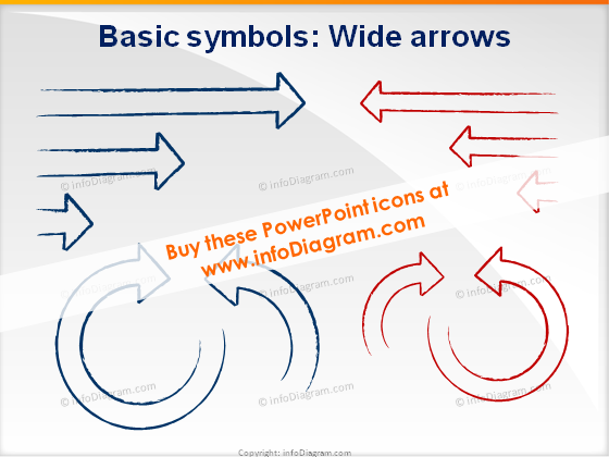 Shapes wide arrows icons ppt clipart charcoal