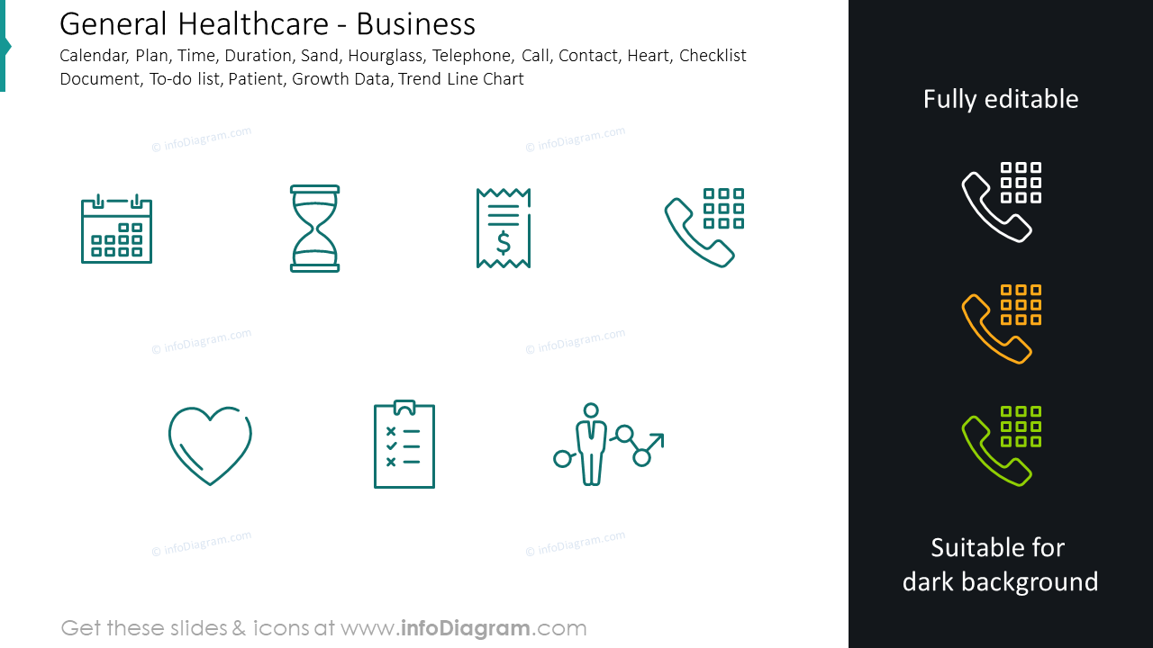 Business icons: calendar, plan, time, duration, sand