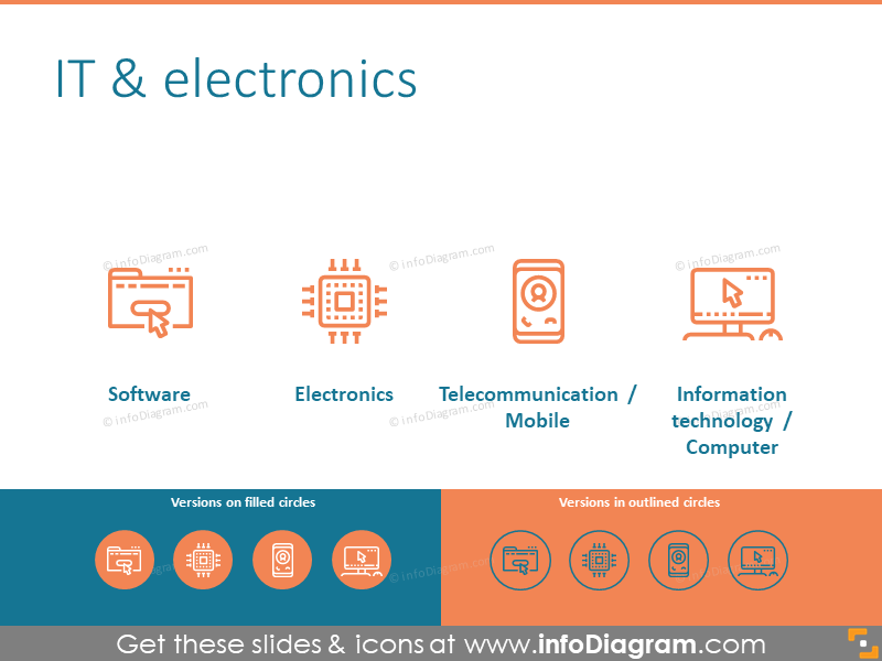 IT & electronics symbols set