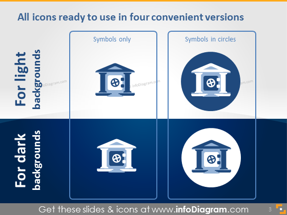 editable powerpoint icons finance industry bank institution