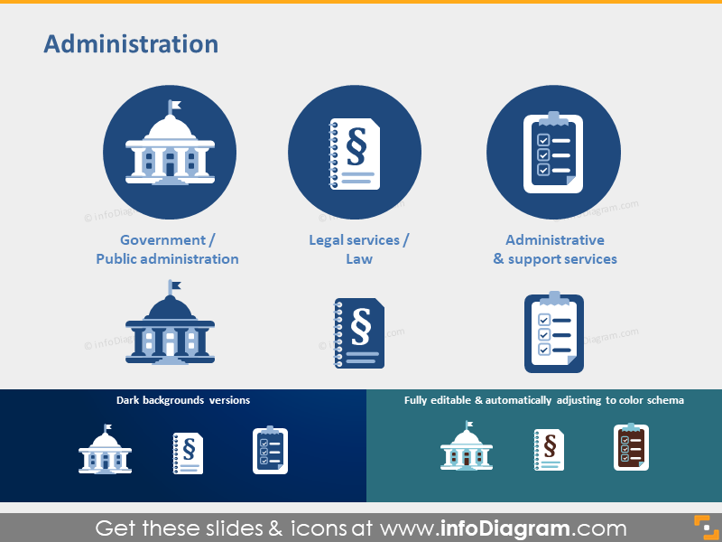 Government Law Legal services pictogram powerpoint icon