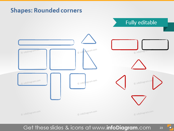 rounded rectangle frame hand drawn shape powerpoint