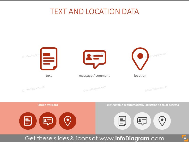Text and location data