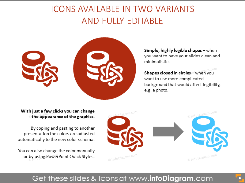 Two variants of available icons