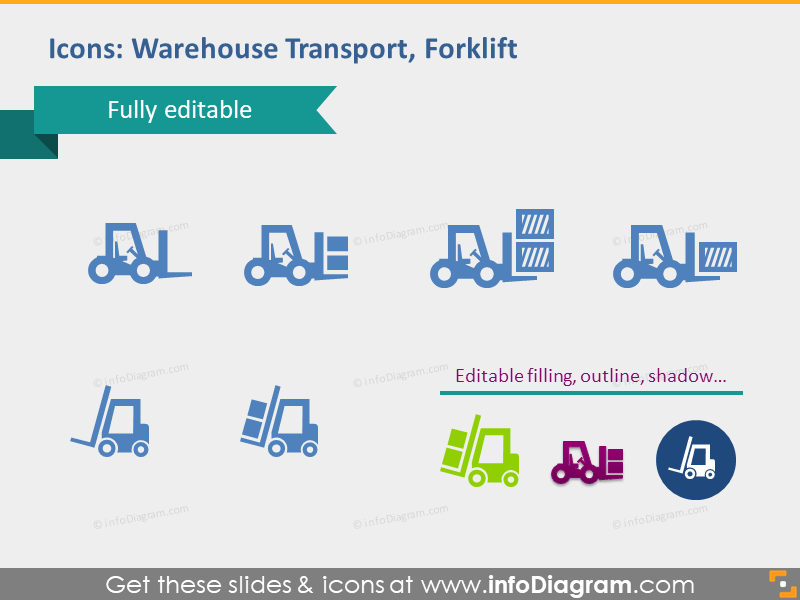 warehouse transport forklift logistic supply pins depository