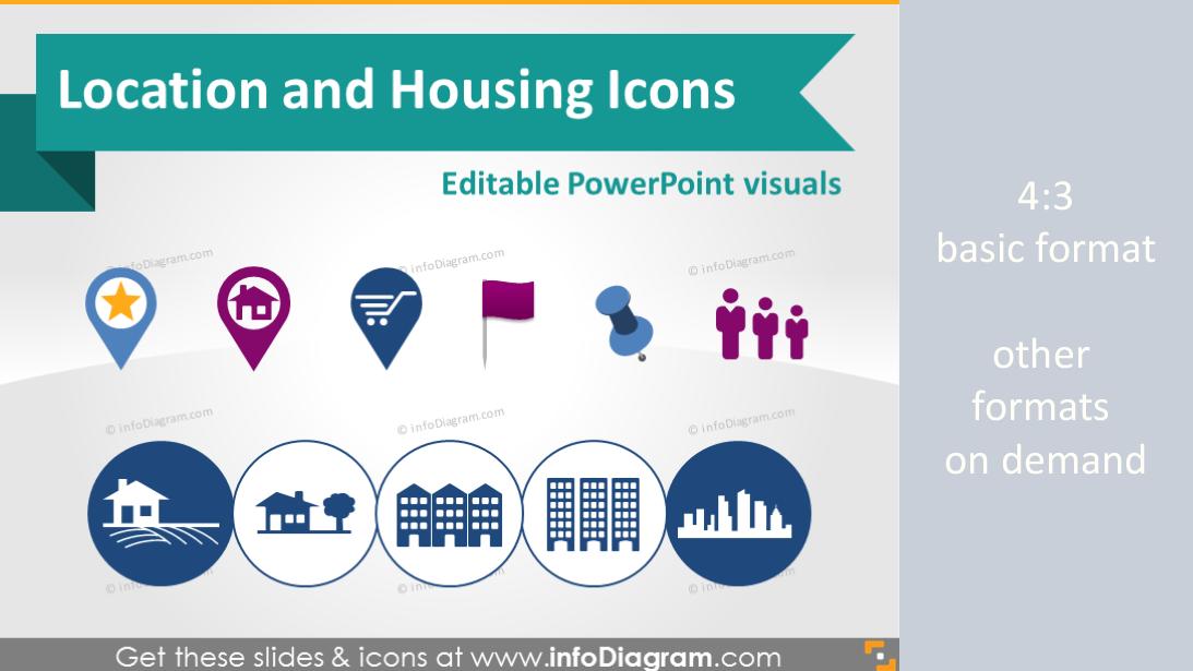 Logistics Calendar Design : Location map marker building house logistics symbols