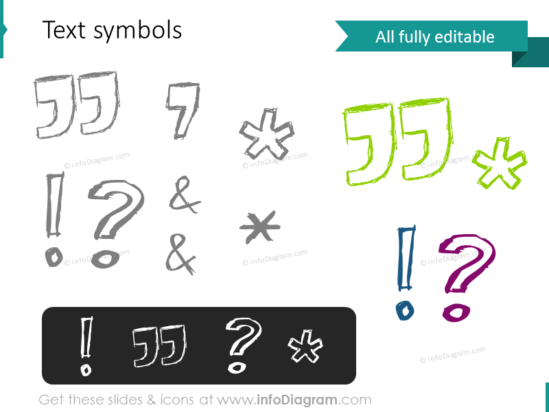 doodle quote mark exclamation question star powerpoint