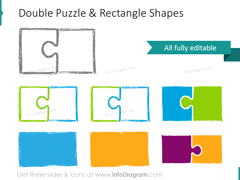 sketch puzzle double pencil integrity synergy powerpoint