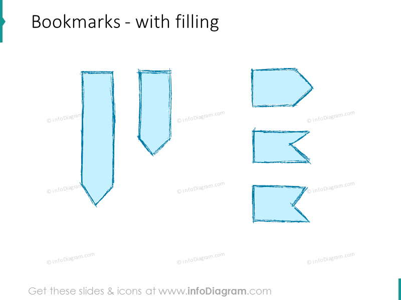pencil-bookmark-retro-blue-hand-drawn-ppt-clipart