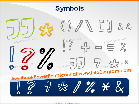 sketch quotation exclamation brackets pencil handdrawn ppt icons