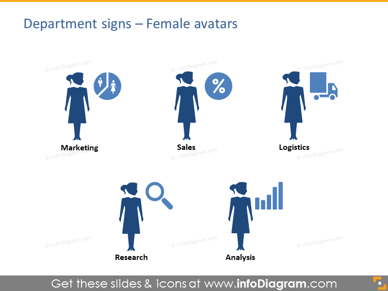 female avatar department head manager