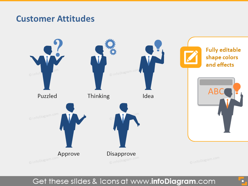 Customer Judgement approval Silhouettes PPT icons