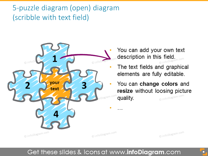 puzzle linear vertical diagram professional powerpoint clipart