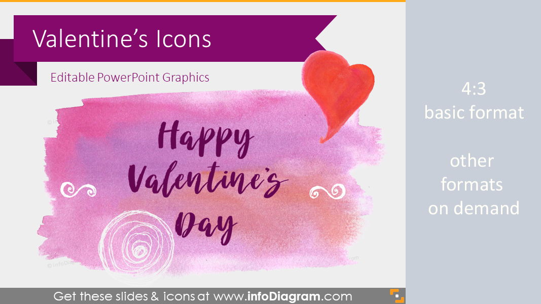 Seasonal Icons - Happy Valentines (PPT clipart)