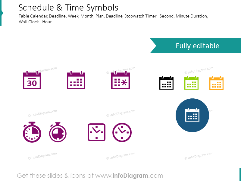 Time and schedule: timer, clock, calendar