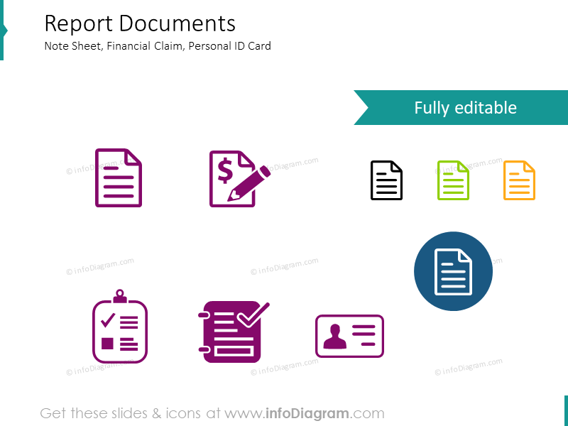 Reports, Documentation, Financial Claims, note, Personal ID