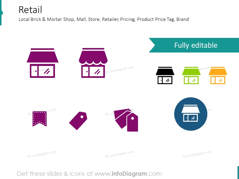 Money and business related icons: Shop, Pricing, Price Tag
