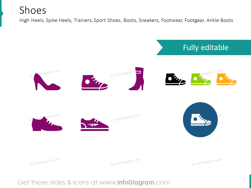 Shoes, high heels, spike heels, trainers, sport shoes, boots